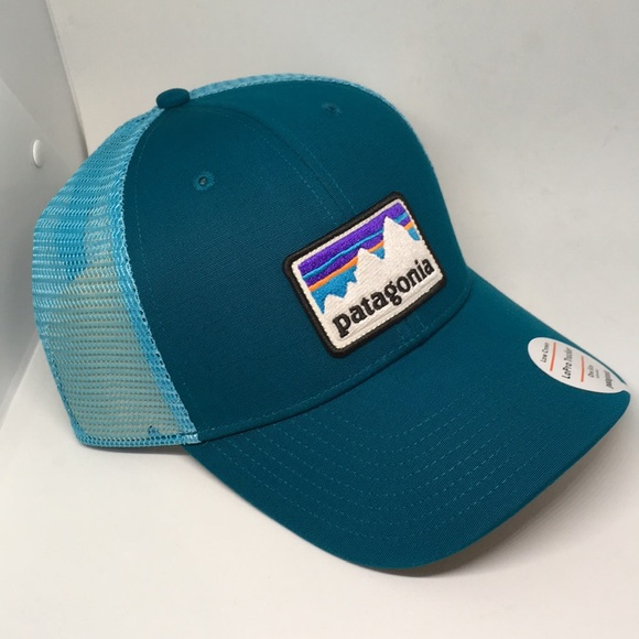 913c1ae91b7 NWT Patagonia trucker LoPro shop sticker patch hat